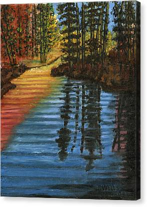 Peaceful Brook Canvas Print by Tanna Lee M Wells