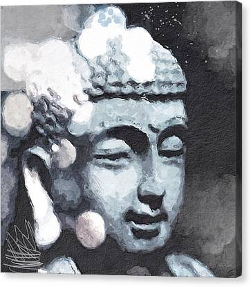 Peaceful Buddha 3- Art By Linda Woods Canvas Print by Linda Woods
