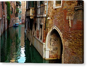 Canvas Print featuring the photograph Peaceful Canal by Harry Spitz