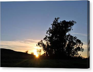 Canvas Print featuring the photograph Peaceful Country Sunset  by Matt Harang