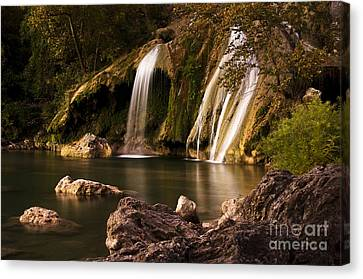 Canvas Print featuring the photograph Peaceful Day At Turner Falls by Tamyra Ayles
