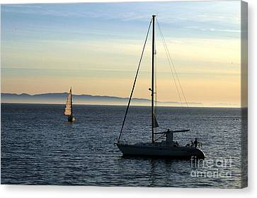 Bruster Canvas Print - Peaceful Day In Santa Barbara by Clayton Bruster