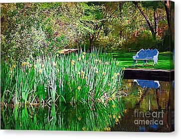 Canvas Print featuring the photograph Peaceful by Donna Bentley