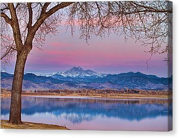 Peaceful Early Morning First Light Longs Peak View Canvas Print by James BO  Insogna