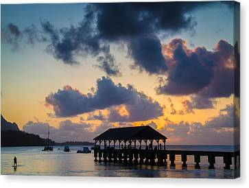 Peaceful Evening At Hanalei Pier Canvas Print