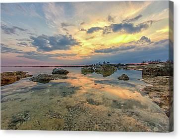Nature Scene Canvas Print - Peaceful Evening by Stelios Kleanthous