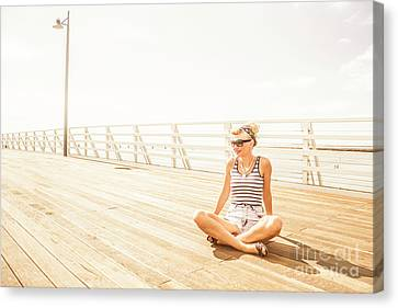 Peaceful Pin-up Canvas Print by Jorgo Photography - Wall Art Gallery