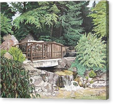 Canvas Print featuring the painting Peaceful Place by Bonnie Heather