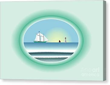 Peaceful Porthole Canvas Print by Steve Smyth