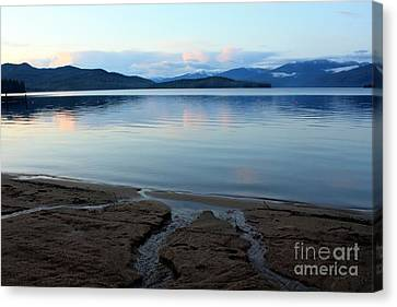 Peaceful Priest Lake Canvas Print by Carol Groenen