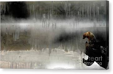 Canvas Print featuring the photograph Peaceful Reflection by Claire Bull