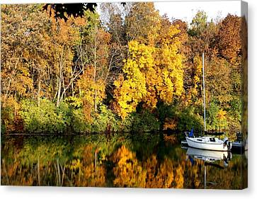 Peaceful Reflections Canvas Print by Bruce Bley