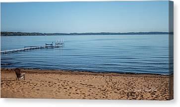 Grand Traverse Bay Beach-michigan  Canvas Print
