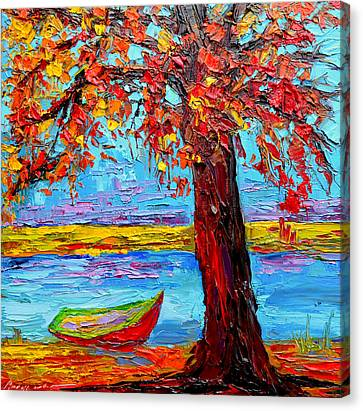 Peaceful Retreat - Modern Impressionist Knife Palette Oil Painting Canvas Print by Patricia Awapara
