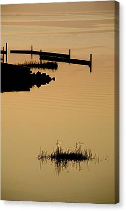 Peaceful Silhouettes Canvas Print by Stephen St. John