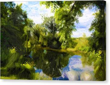Peaceful Stream Canvas Print by Chamira Young