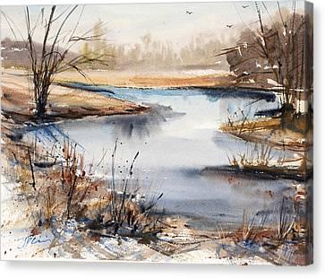 Peaceful Stream Canvas Print