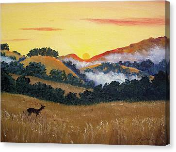 Peaceful Sunset At Fremont Older Canvas Print by Laura Iverson