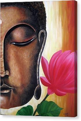 Peaceful Canvas Print by Usha Rai