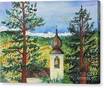 Peaceful Valley Bell Tower Canvas Print by Donlyn Arbuthnot