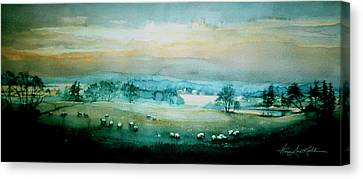 Peaceful Valley Canvas Print by Hanne Lore Koehler