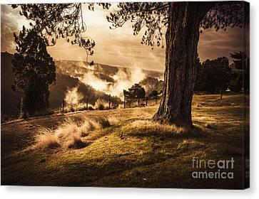 Peaceful Vintage Landscape Of A Rural Meadow Canvas Print