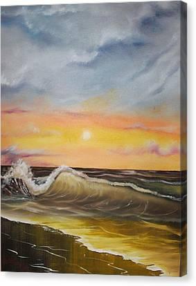 Peaceful Wave Canvas Print by Scott Easom