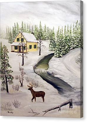 Peaceful Winter Day Canvas Print by Timothy Smith