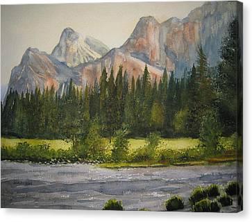Peaceful Yosemite Canvas Print by Shirley Braithwaite Hunt