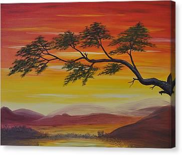 Peacefulness Canvas Print by Georgeta  Blanaru