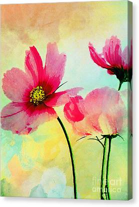 Canvas Print featuring the digital art Peacefulness by Klara Acel