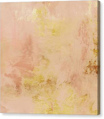 Peach Harvest- Abstract Art By Linda Woods. Canvas Print by Linda Woods