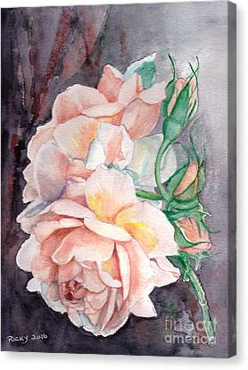 Peach Perfect - Painting Canvas Print by Veronica Rickard