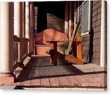 Canvas Print featuring the photograph Peach Porch by Betsy Zimmerli