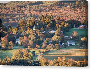 New England Autumn Canvas Print - Peacham Vermont At Dawn by Jeff Folger
