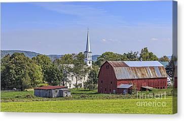 Peacham Vermont Idylic Vermont Scene Canvas Print by Edward Fielding
