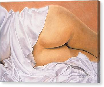 Peachass Canvas Print by Lawrence Supino