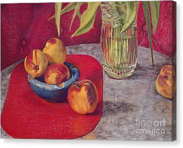 Peaches And Nectarines Canvas Print by Kathryn Donatelli