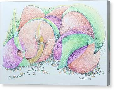 Canvas Print - Peaches And Plums by Dave Martsolf