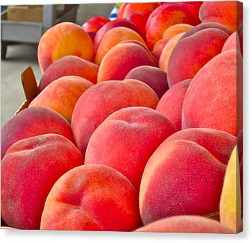 Peaches For Sale Canvas Print by Gwyn Newcombe