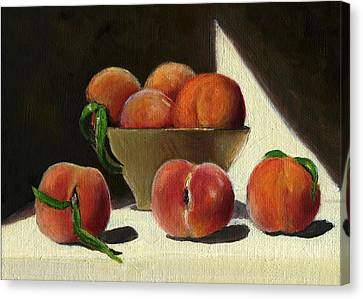 Peaches Canvas Print by Karyn Robinson