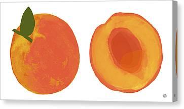 Peaches Canvas Print by  Lisa Weedn