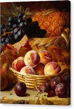 Peaches, Plums, Pears And Pineapple Canvas Print