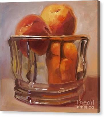 Peaches Print Wall Art Room Decor Canvas Print by Patti Trostle