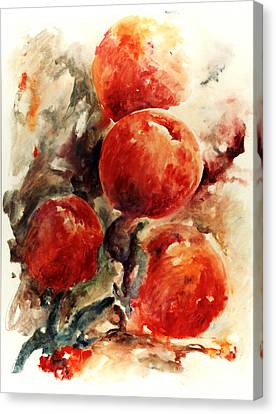 Peaches Canvas Print by Rachel Christine Nowicki