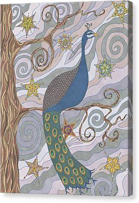Peacock Dream's Canvas Print