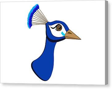Peacock Illustration  Canvas Print by Dragana  Gajic