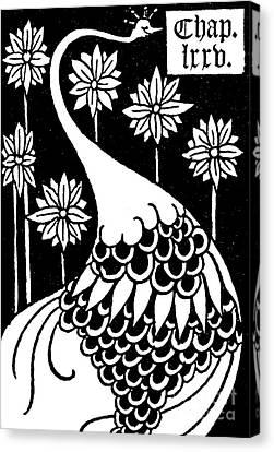 Arthurian Legend Canvas Print - Peacock Illustration From Le Morte D'arthur By Thomas Malory by Aubrey Beardsley