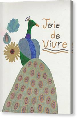 Peacock--joie De Vivre Canvas Print