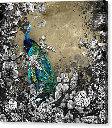 Peacock Pop Up Book Illustration Canvas Print by Carly Ralph